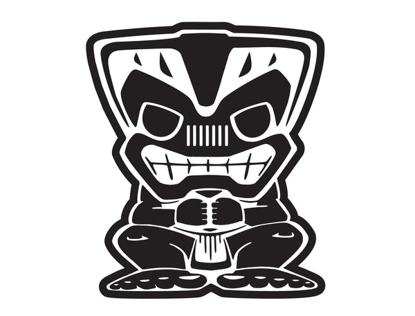 Jeep Wrangler Islander 12 Inch Tiki Bob Large Decal The