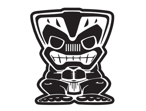 "Jeep 12"" Tiki Bob Large Decal"