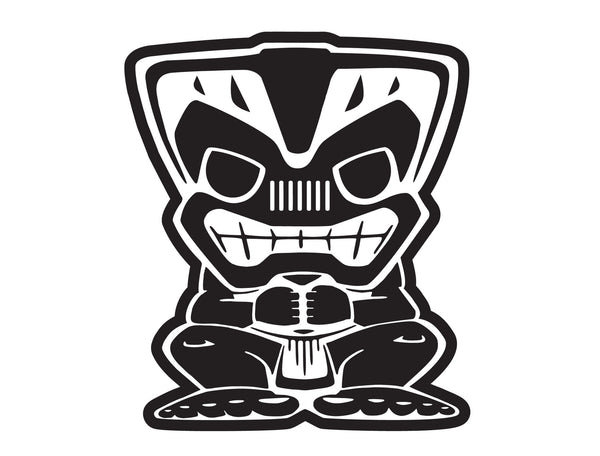 "Jeep 20"" Tiki Bob Extra Large Decal"