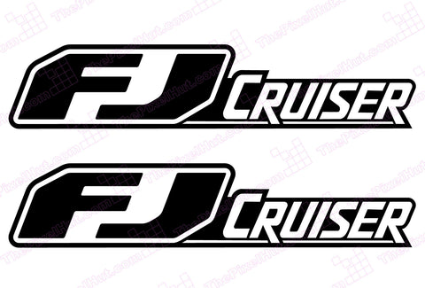Toyota FJ Cruiser Retro Door Decal Kit