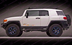 Toyota FJ Cruiser Orange Digital Camo Door Decal Kit