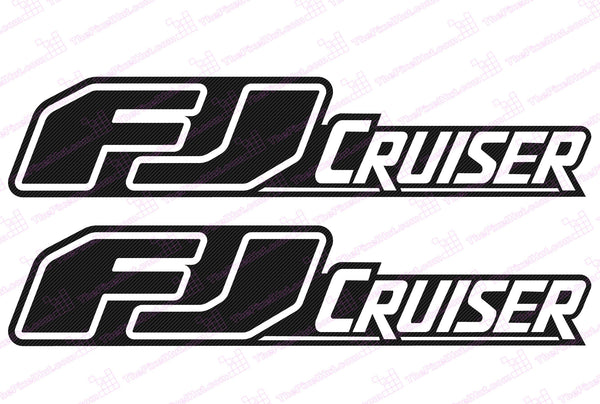 Toyota FJ Cruiser Retro Negative Carbon Fiber Door Decal Kit