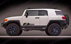 Toyota FJ Cruiser Retro Carbon Fiber Door Decal Kit