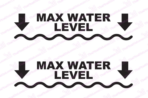 Max Water Level Depth Decals for your 4x4 Jeep or Truck