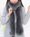 KYIV Long Faux Fur Scarf