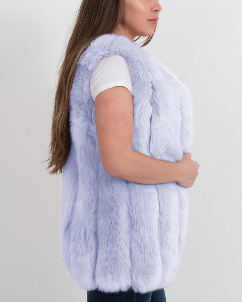 AMSTERDAM Purple Faux Fur Vest
