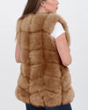 BUCHAREST Brown Faux Fur Vest