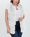 bucharest white faux fur vest | furever faux fur