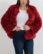chicago red faux fur coat | furever faux fur