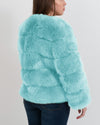 CHICAGO Mint Faux Fur Coat