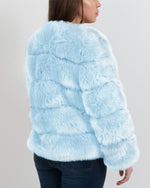 chicago blue faux fur coat | furever faux fur