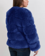 CHICAGO Blue Faux Fur Coat