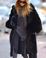 OSLO Black Oversized Faux Fur Coat