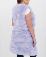 london purple faux fur vest | furever faux fur