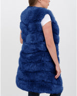 LONDON Blue Faux Fur Vest