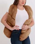 MONACO Brown Faux Fur Vest