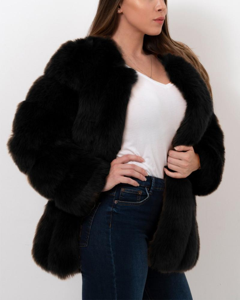 moscow black faux fur coat | furever faux fur