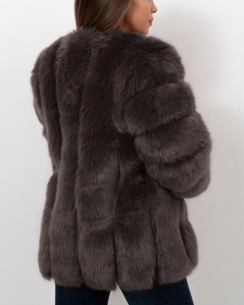 moscow grey faux fur coat | furever faux fur