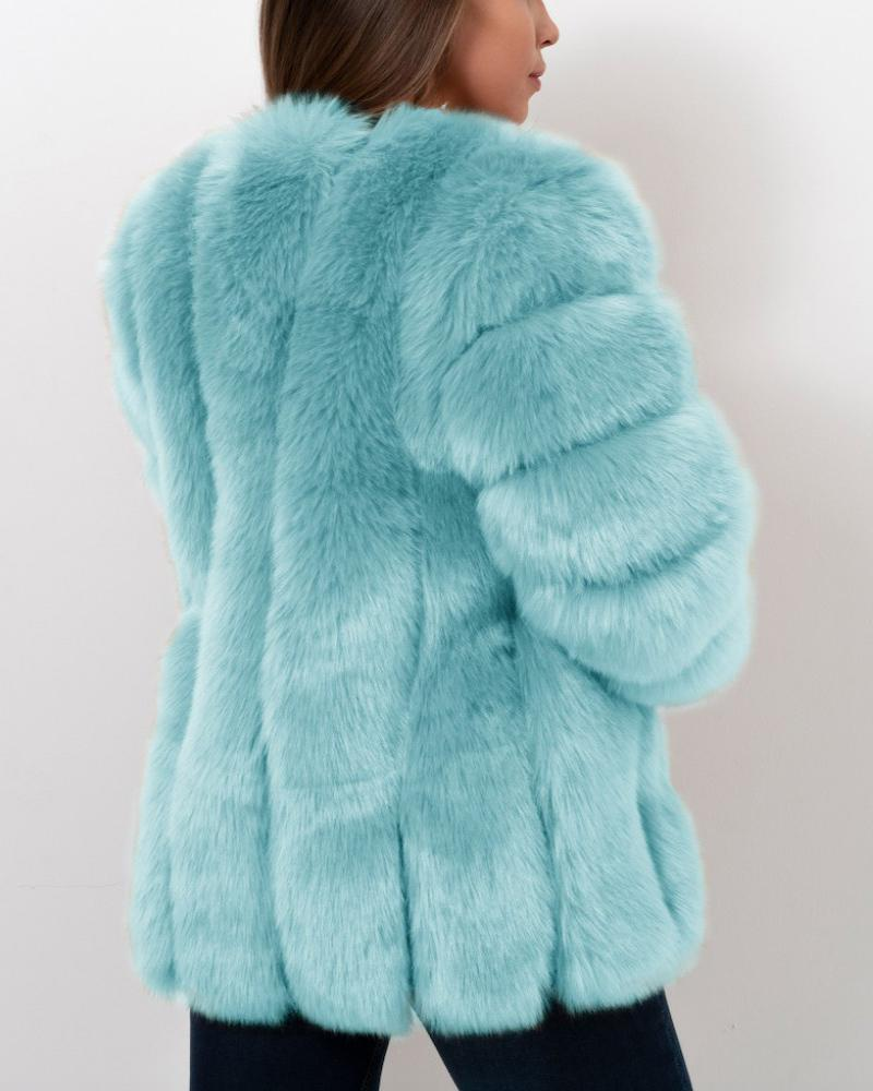 MOSCOW Mint Faux Fur Coat