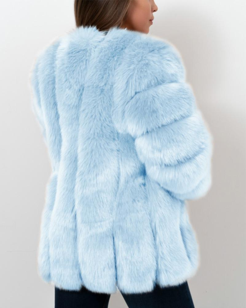 moscow blue faux fur coat | furever faux fur