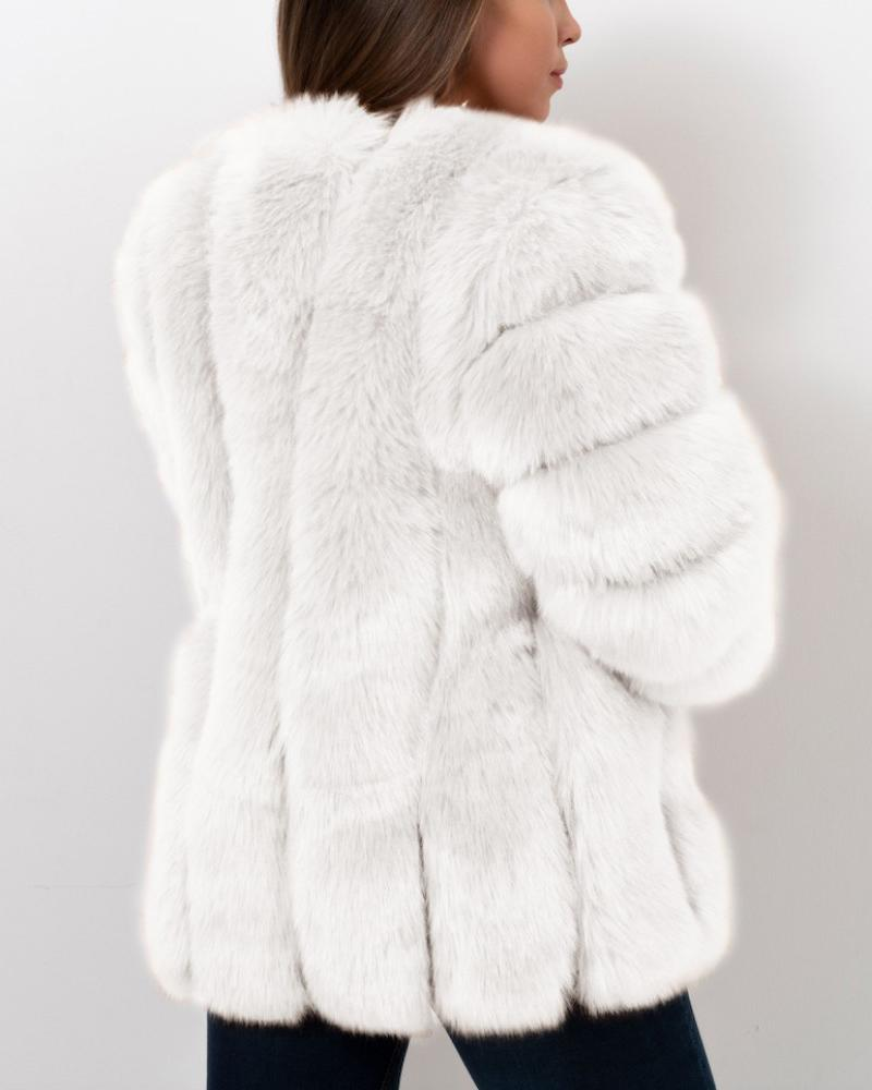 moscow white faux fur coat | furever faux fur
