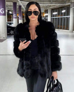 MOSCOW Black Faux Fur Coat