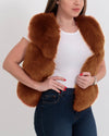 new york brown faux fur vest | furever faux fur