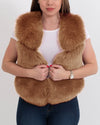 NEW YORK Brown Faux Fur Vest