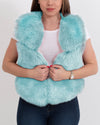 NEW YORK Mint Faux Fur Vest