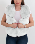 new york white faux fur vest | furever faux fur