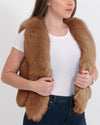 PARIS Brown Faux Fur Vest