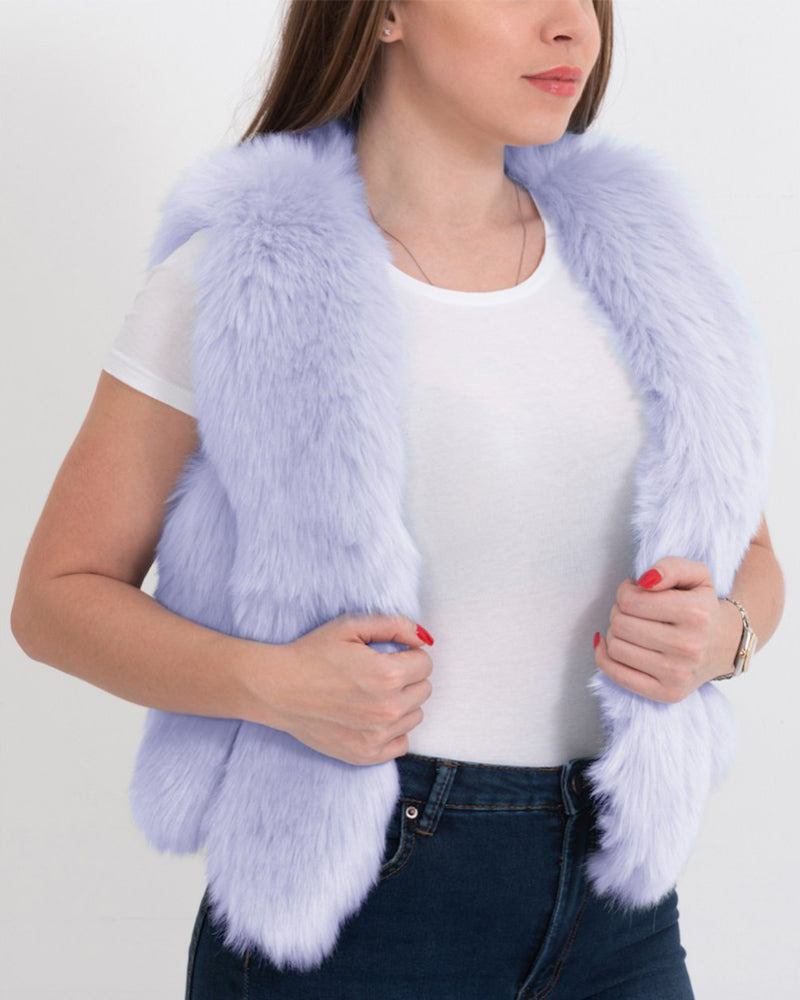 paris purple faux fur vest | furever faux fur