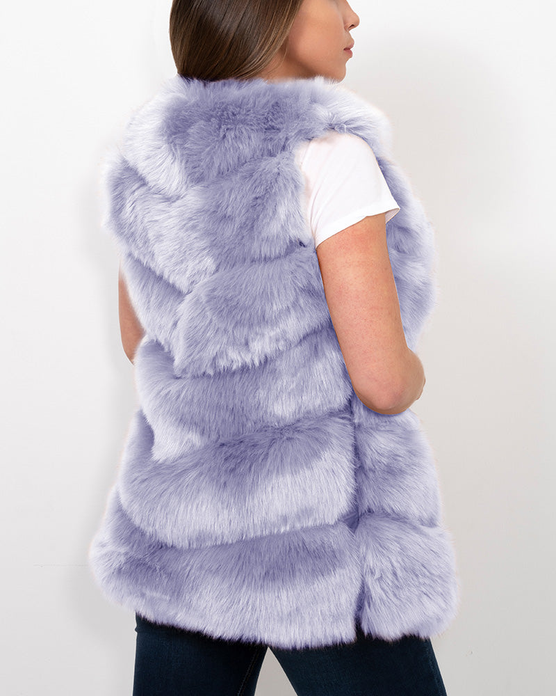 VIENNA Purple Faux Fur Vest