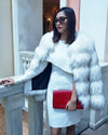 CHICAGO Raccoon White Faux Fur Coat