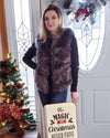 NEW YORK Grey Faux Fur Vest
