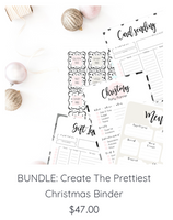 BUNDLE: Pretty & Practical Christmas Binder AND Beautiful Beige Feel-Good Planner