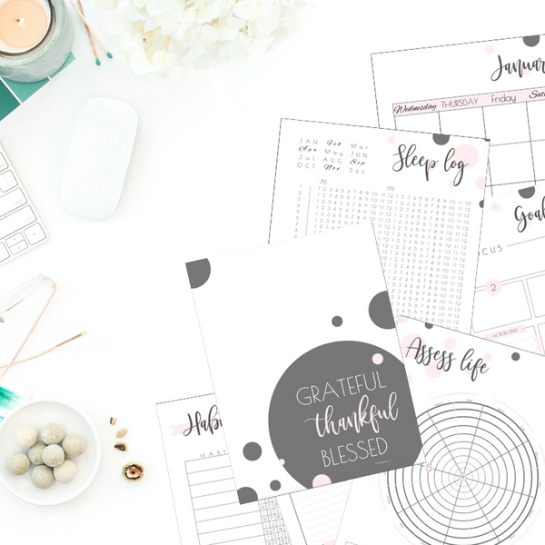 Planner: Feel-Good Goals & Plans - Cotton Candy (blank calendars)