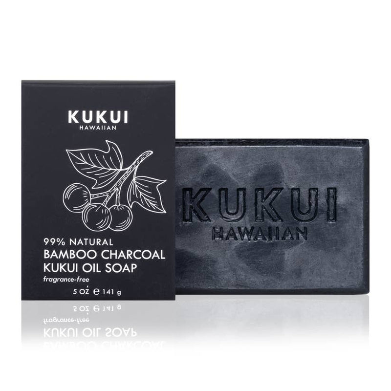 MAUI SOAP CO. Bamboo Charcoal Kukui Oil Soap