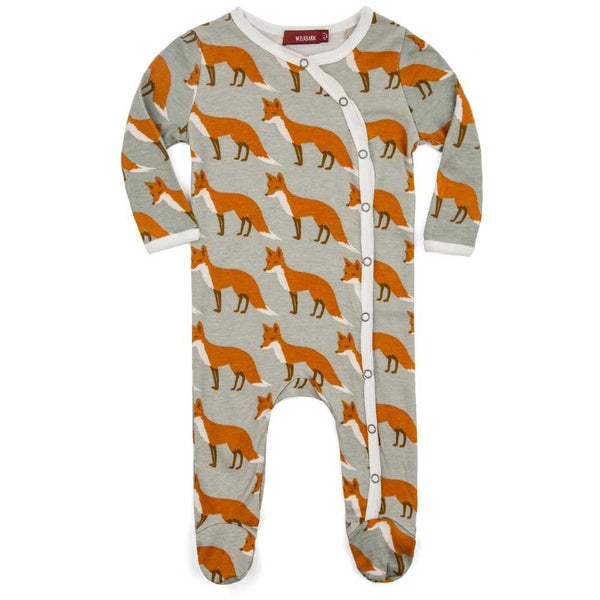 Milkbarn Organic Footed Romper- Fox
