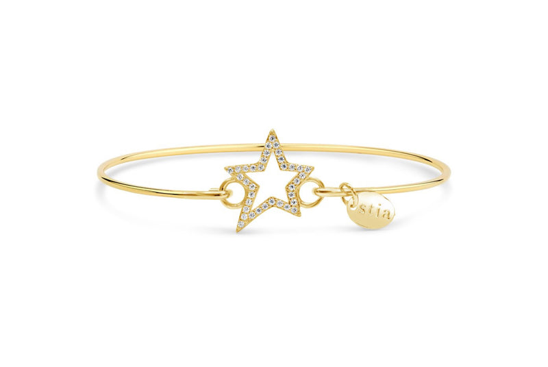Stia Pavé Icon Bracelet Jagged Star - Gold