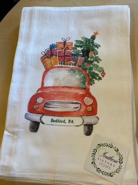 Christmas Flour Sack Tea Towels - Bedford