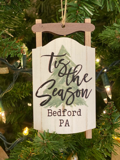 Tis the Season Bedford PA Sled Ornament