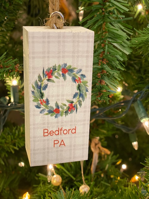 Bedford Pa Wreath Ornament