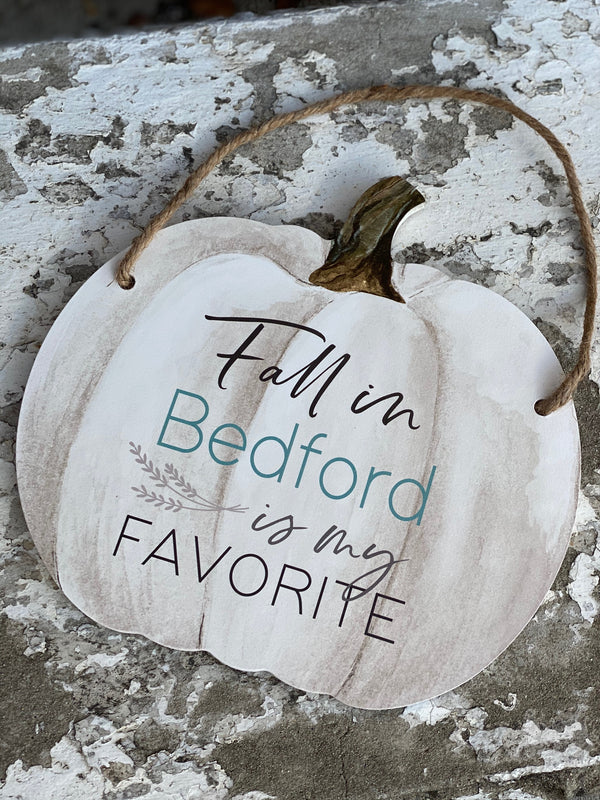 Fall in Bedford Pumpkin Hanger