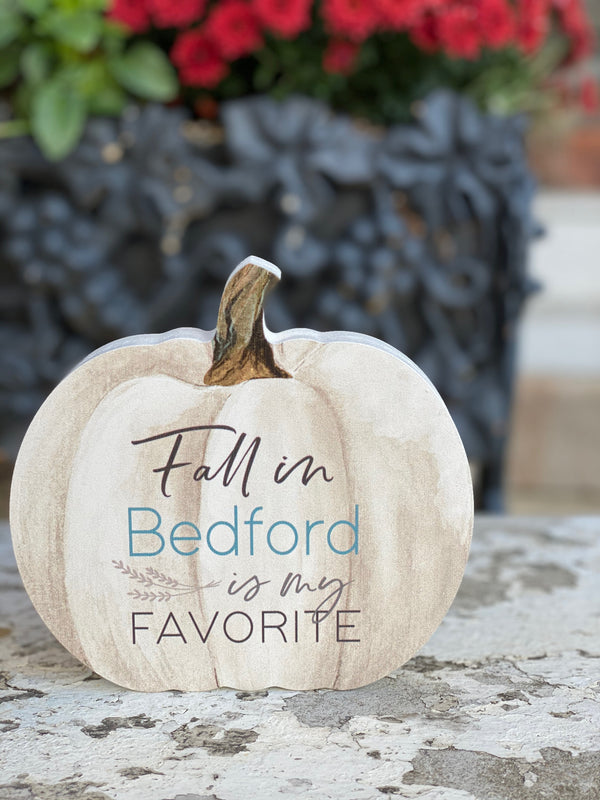 Fall in Bedford Pumpkin