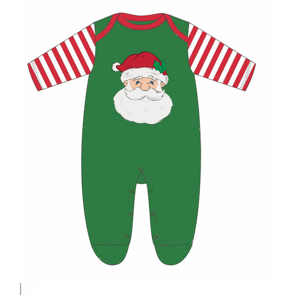 KIDS SAINT NICK GREEN JAMMIE ONESIE