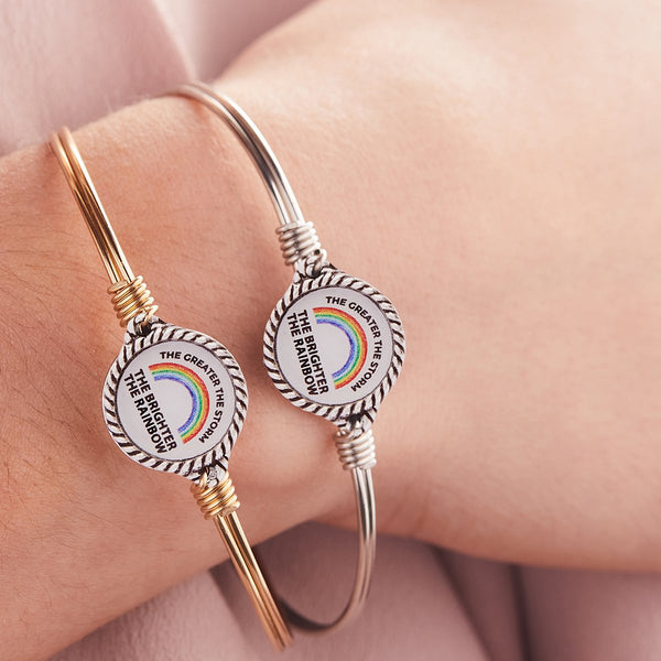 Luca & Danni Rainbow of Hope Bangle Bracelet