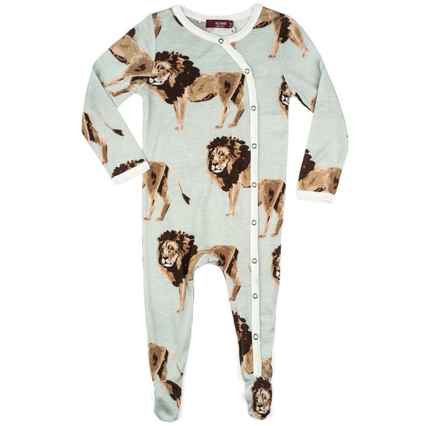 Milkbarn Footed Romper - Lion