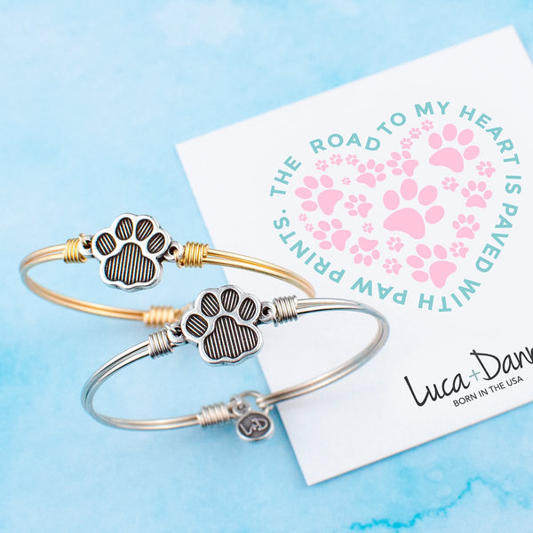 Luca & Danni Pawprint Bangle Bracelet