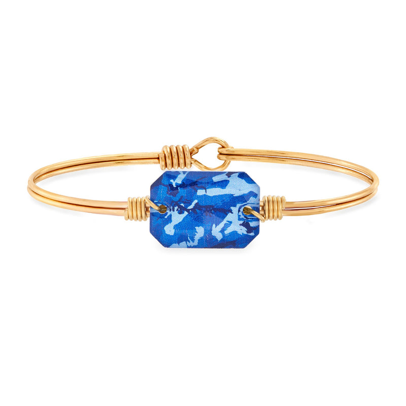 Luca & Danni Dylan Bangle Bracelet in Blue Camo